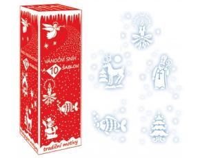 Sníh ve spreji s 10 šablonami, 150ml