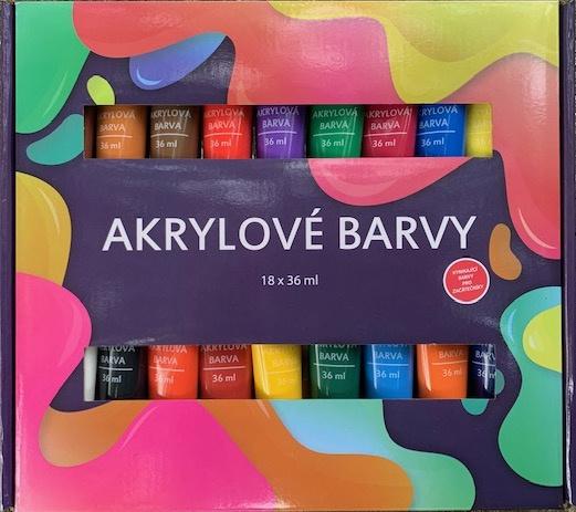 Akrylové barvy 18x36ml