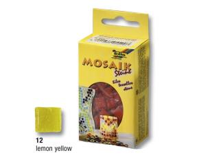 Žluté mozaikové kamínky 10x10mm, 300 ks, 200g