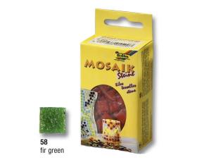 Zelené tmavé mozaikové kamínky 10x10mm, 300 ks, 200g