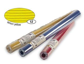 Žlutý světlejší vlnitý papír, role 50x70 cm