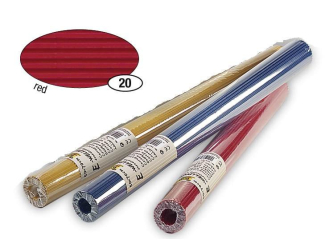 Červený vlnitý papír, role 50x70 cm