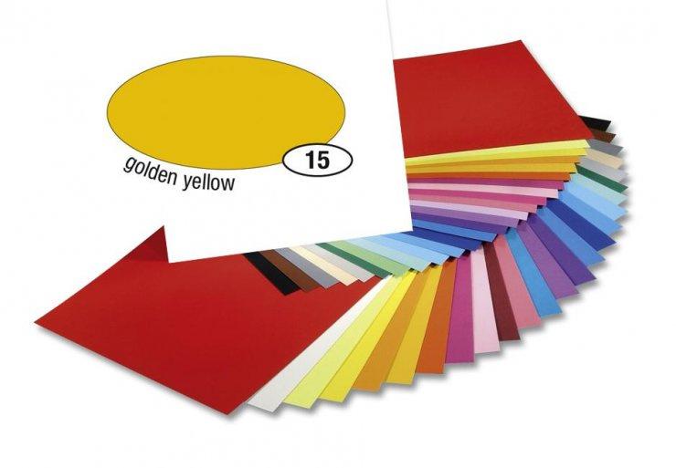 Barevný papír 300g A4- Žlutý tmavý