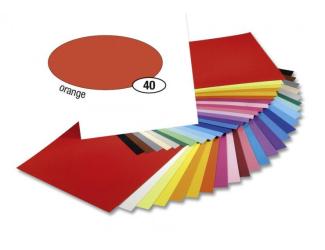 Barevný papír 300g A4- Oranžový