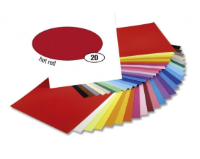 Barevný papír 300g A4- Červený