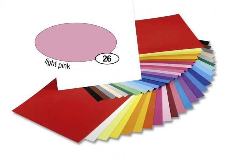 Barevný papír 300g A4- Růžový světlý