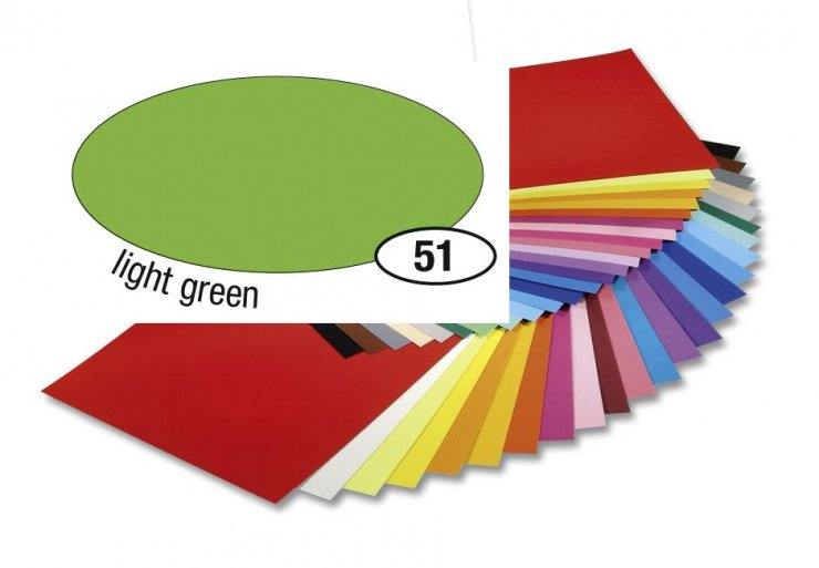 Barevný papír 300g A4- Zelený světlý