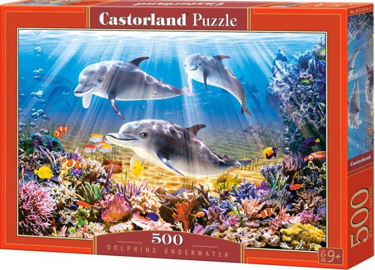Puzzle Castorland 500 dílků - Delfíni