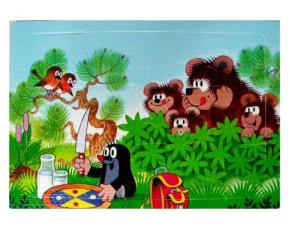 Puzzle krtek- 12 dílků - mlsní medvědi