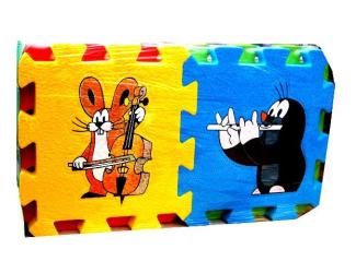 Krtek a hudební nástroje- pěnová vkládačka 6 ks 15x15x1cm