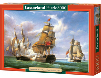 "Puzzle 3000 dílků- Kopie ""Combat between the French Frigate"""