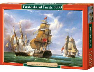 "Puzzle 3000 dílků- Kopie ""Combat between the French Frigate"""