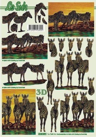 3D papíry pro vystřihování- Zebry