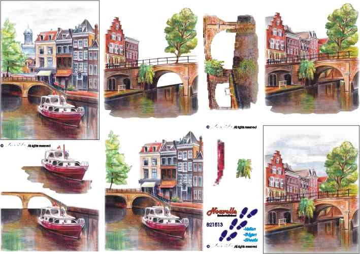 3D papíry pro vystřihování- Holandsko