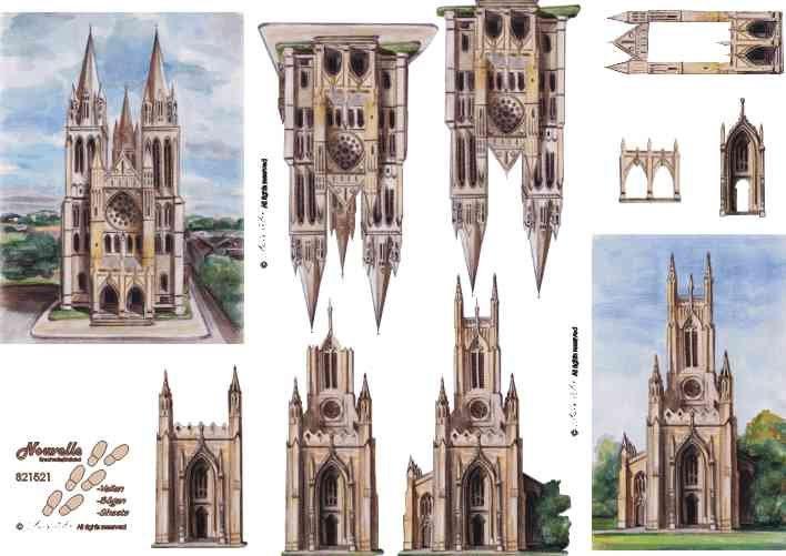 3D papíry pro vystřihování- Katedrály