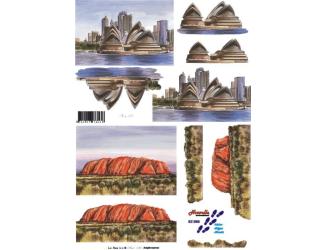 3D papíry pro vystřihování- Austrálie