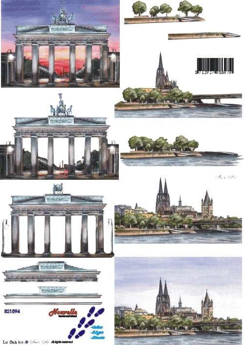 3D papíry pro vystřihování- Německo