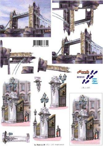 3D papíry pro vystřihování- Londýn