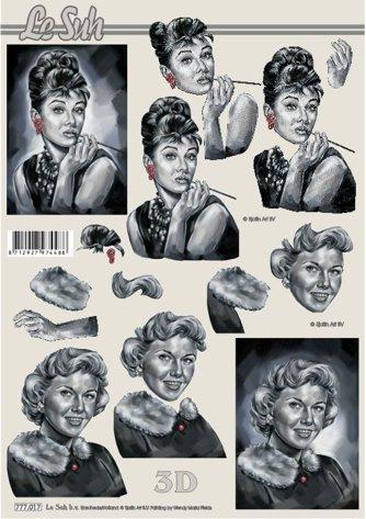 3D papíry pro vystřihování- Ženy...