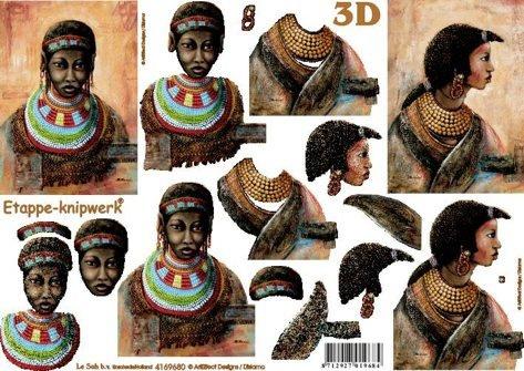 3D papíry pro vystřihování- Afrika 2