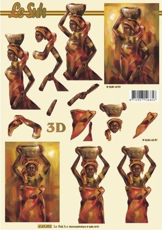 3D papíry pro vystřihování- Afrika 3