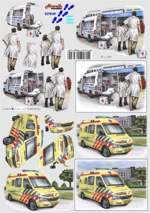 3D papíry pro vystřihování- Záchranná služba