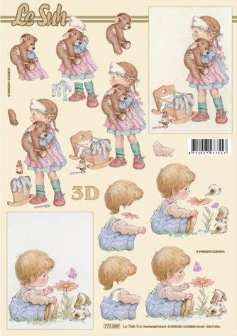 3D papíry pro vystřihování- Nemocný medvídek
