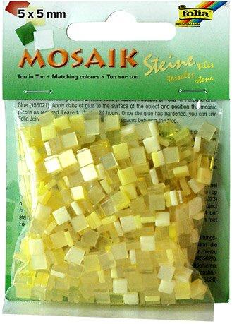 Mozaika pryskyřicová 5x5mm- žlutý mix