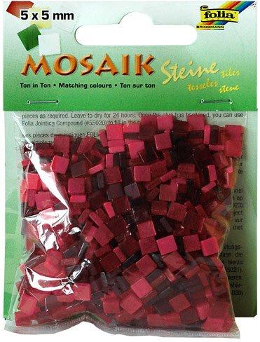Mozaika pryskyřicová 5x5mm- červený mix