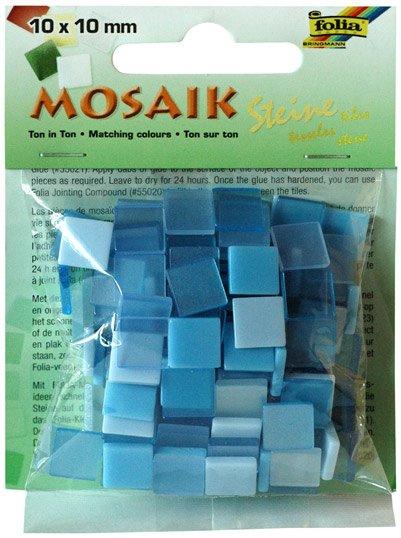 Mozaika pryskyřicová 10x10mm- modrý mix