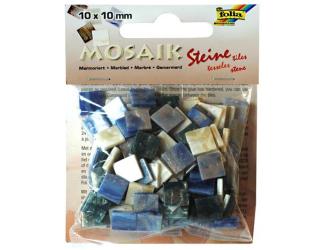 Mozaika pryskyřicová 10x10mm- modrý mramor