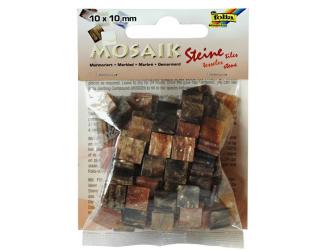 Mozaika pryskyřicová 10x10mm- hnědý mramor