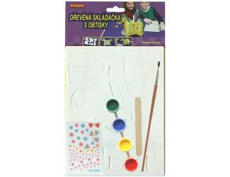 Dřevěná skládačka- stojánek na tužky- koník