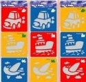 Šablony 3 ks- auto, loď, letadlo