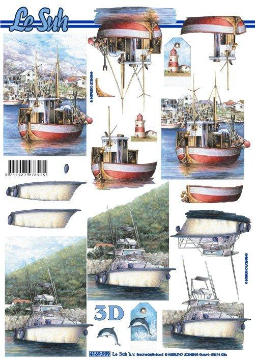 3D papíry pro vystřihování- Člun a loď