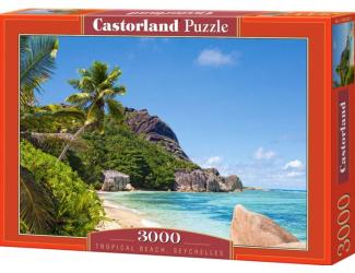 Puzzle Castorland 3000 dílků - Tropical Beach, Seychelles