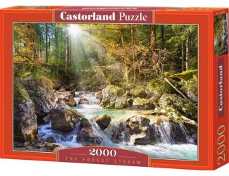 Puzzle 2000 dílků- Lesní říčka