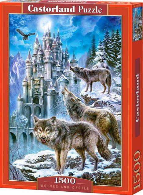 Puzzle Castorland 1500 dílků - Vlci u zámku