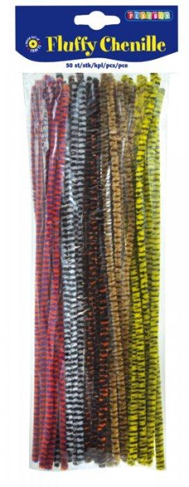 Chlupaté modelovací dráty 30cm, 50ks, tl.7mm proužkované